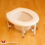 Санитарное приспособление для туалета - насадка на унитаз регулируемая