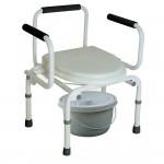 Кресло-туалет с опускающимися подлокотниками